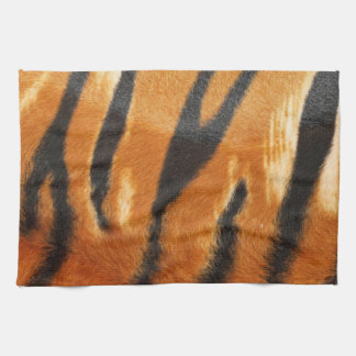Safari Tiger Stripes Print Tea Towel