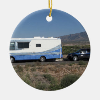 Safari Trek 1999 Blue Classic RV Motorhome Christmas Ornament