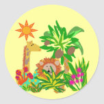 Safari Tshirts and Gifts Round Sticker