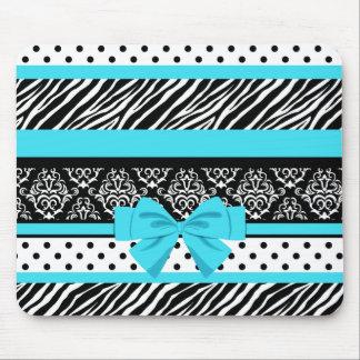 Safari: Turquoise/Bow Mouse Pad