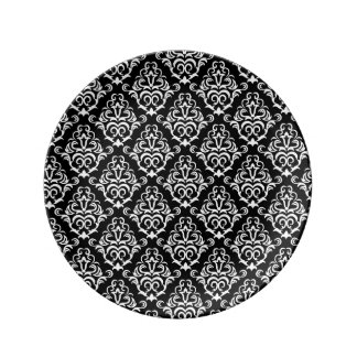 Safari: Turquoise (Damask) Porcelain Plate