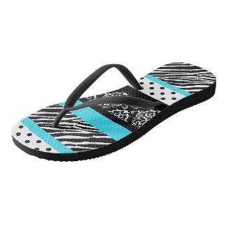 Safari: Turquoise Flip Flops