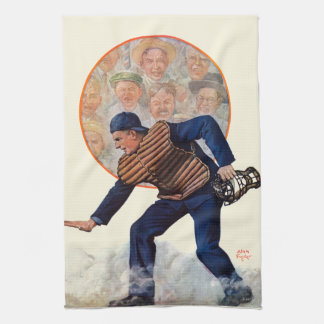 Safe at the Plate Tea Towel