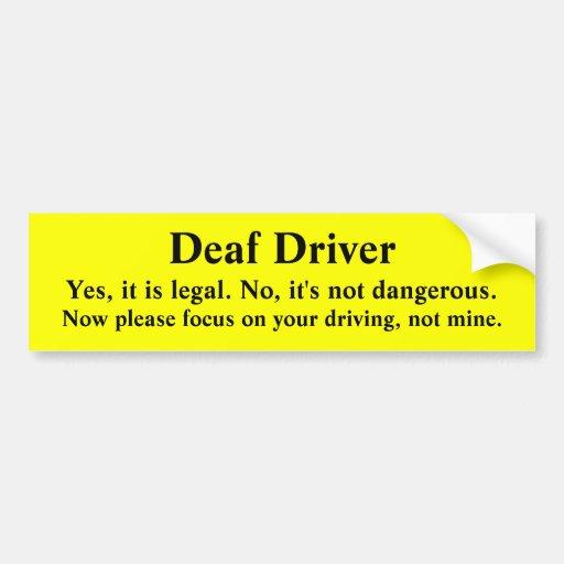Safe Deaf Driver Directing Focus Bumper Stickers