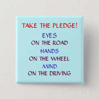 """SAFE DRIVING PLEDGE"" BUTTON"