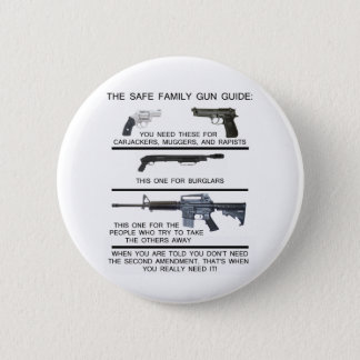 SAFE FAMILY GUN GUIDE 6 CM ROUND BADGE