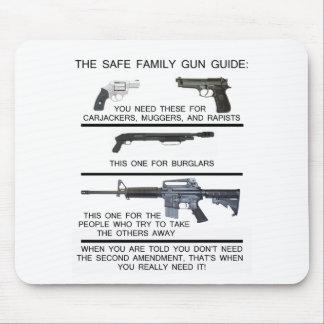 SAFE FAMILY GUN GUIDE MOUSE MAT