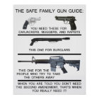 SAFE FAMILY GUN GUIDE POSTER