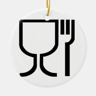 Safe Food Symbol Round Ceramic Decoration