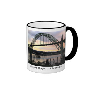 Safe Harbor, Newport, Oregon Ringer Mug