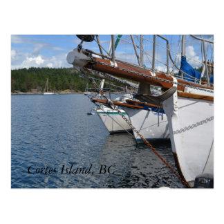 Safe Harbour, Cortes Island BC Postcard