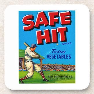 Safe Hit Vintage Lable Art Coaster