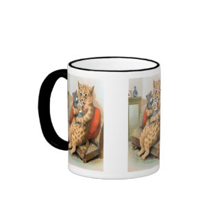 Safe in Mother s Arms by Louis Wain Gift Mug