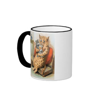 Safe in Mother s Arms by Louis Wain Mug