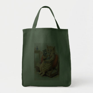 Safe in Mother s Arms by Louis Wain Tote Bag