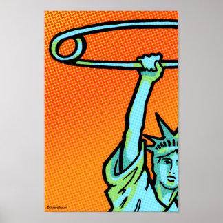 SAFE Liberty Dot Poster #3: 11 x 16.5