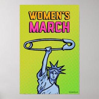 SAFE Liberty Dot Poster Women's March GR: 11x16.5