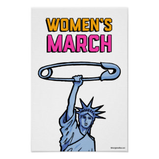 SAFE Liberty Dot Poster Women's March WH: 11x16.5