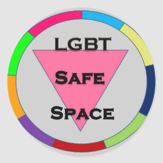 Safe Space LGBT Classic Round Sticker