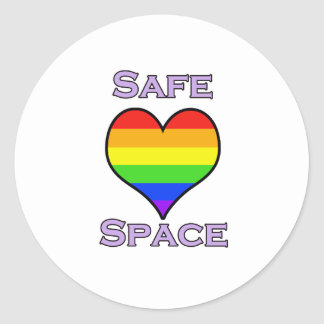 Safe Space Round Sticker