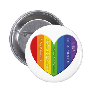 Safe Spaces For All Heart Badge Button