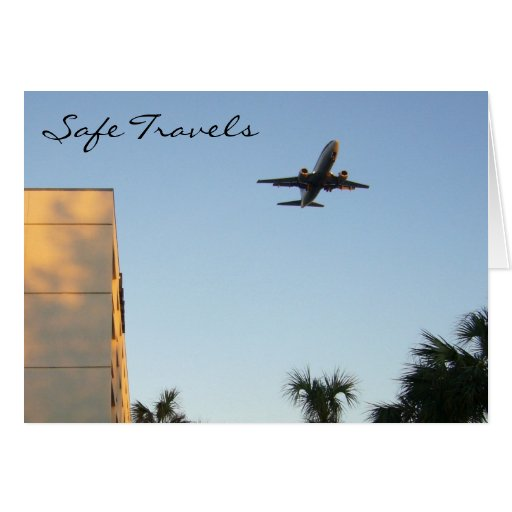 safe travels greeting cards