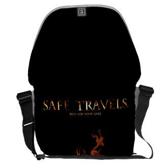 SAFE TRAVELS Cover logo messenger bag