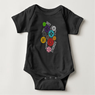 Safe With Me Cogs Dark Baby Bodysuit