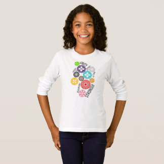 Safe With Me Cogs Girl's Long Sleeve T-Shirt