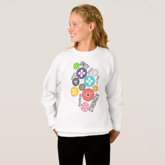 Safe With Me Cogs Girl's Sweatshirt
