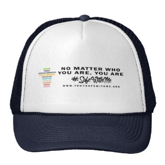 Safe With Me Cross Trucker Hat