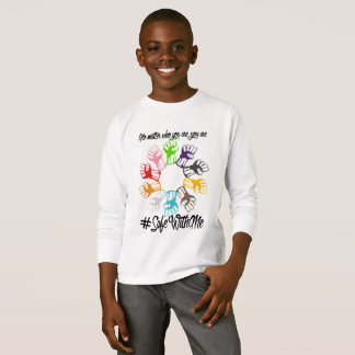 Safe With Me Fists Boy's Long Sleeve T-Shirt