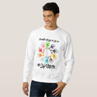 Safe With Me Fists Men's Basic Sweatshirt