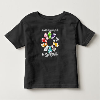 Safe With Me Fists Toddler Dark Jersey T-Shirt