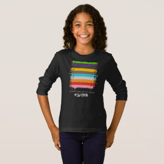 Safe With Me Flag Girl's Dark Long Sleeve T-Shirt