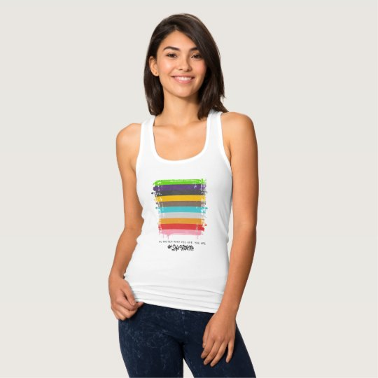 Safe With Me Flag Women's Racerback Tank