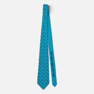 Safe With Me Tie in Teal/Black