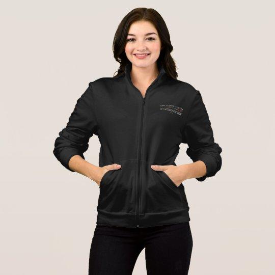 Safe With Me Tree Women's Dark Fleece Zip Jacket
