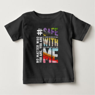 Safe With Me Watercolor Baby Dark Jersey T-Shirt
