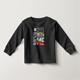 Safe With Me Watercolor Dark Long Sleeve T-Shirt