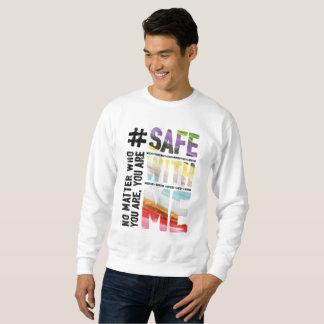 Safe With Me Watercolor Men's Basic Sweatshirt