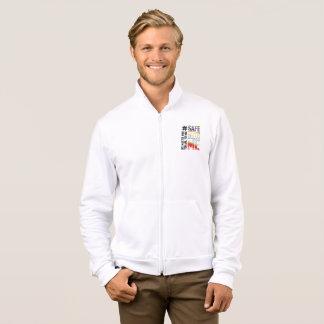 Safe With Me Watercolor Men's Fleece Zip Jacket