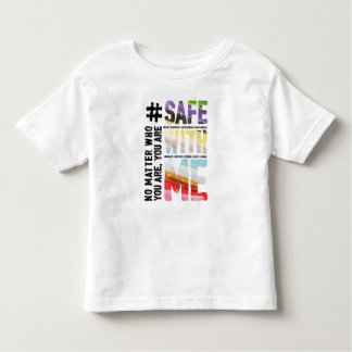 Safe With Me Watercolor Toddler Jersey T-Shirt
