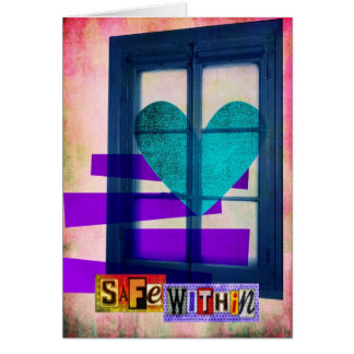 Safe Within Digital Collage Greeting Card