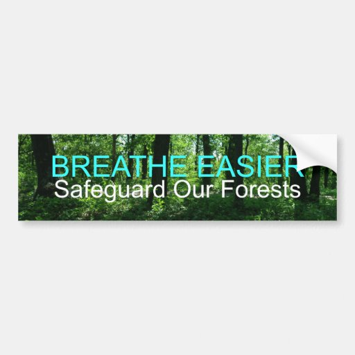 Safeguard Our Forests Bumper Stickers