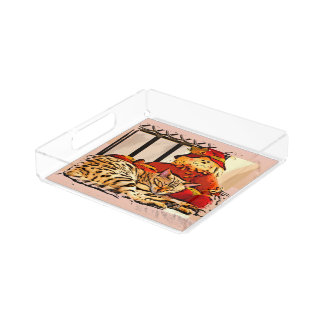 SAFELY GUARDED ACRYLIC TRAY