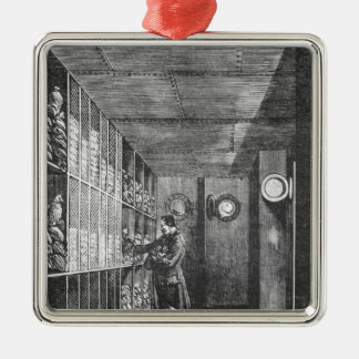 Safes at the Bank of France in Paris, 1897 Christmas Ornament