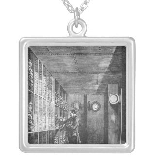Safes at the Bank of France in Paris, 1897 Silver Plated Necklace