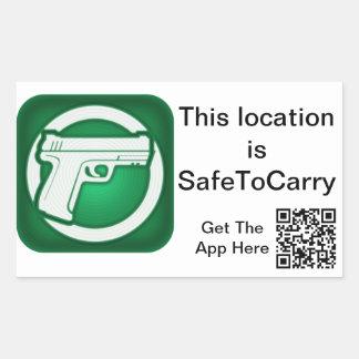 SafeToCarry Door Sticker