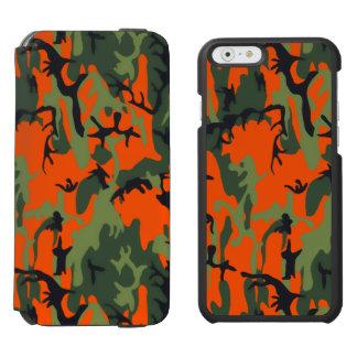 Safety Blaze Orange Green Camo Incipio Watson™ iPhone 6 Wallet Case